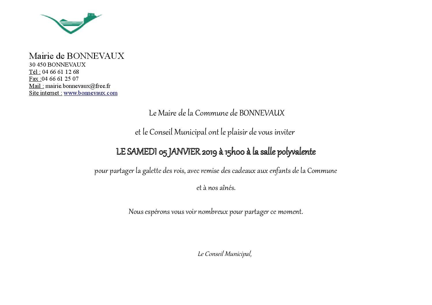 Invitation Vœux 2019
